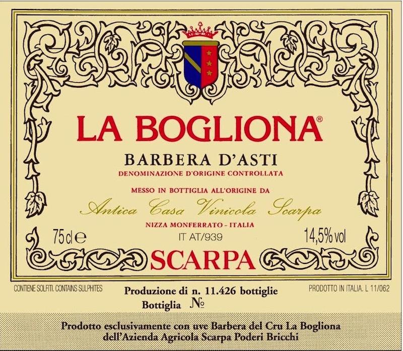 Scarpa Barbera d'Asti 'La Bogliona'