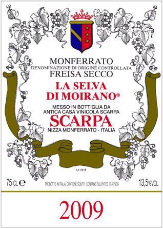 Scarpa Monferrato Freisa Secco 'La Selva di Moirano'