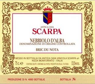 Scarpa Nebbiolo d'Alba 'Bric du Nota'