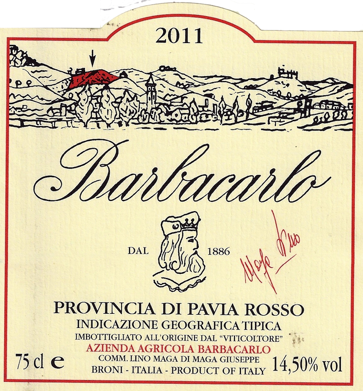 Barbacarlo Pavia Rosso 'Barbacarlo'