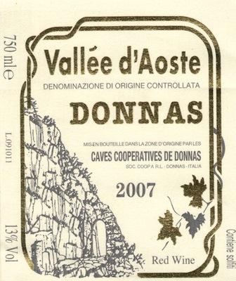 Donnas Valle d'Aosta 'Classico'