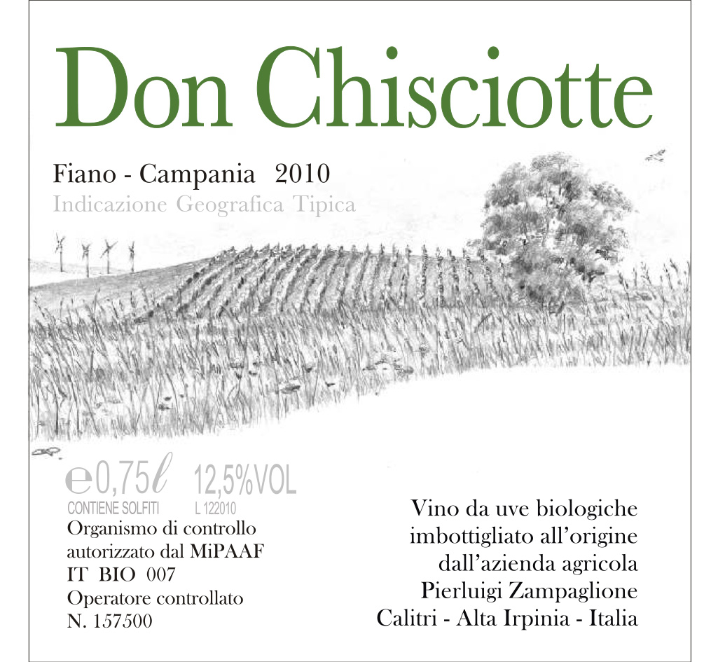 Zampaglione Fiano Campania 'Don Chisciotte'
