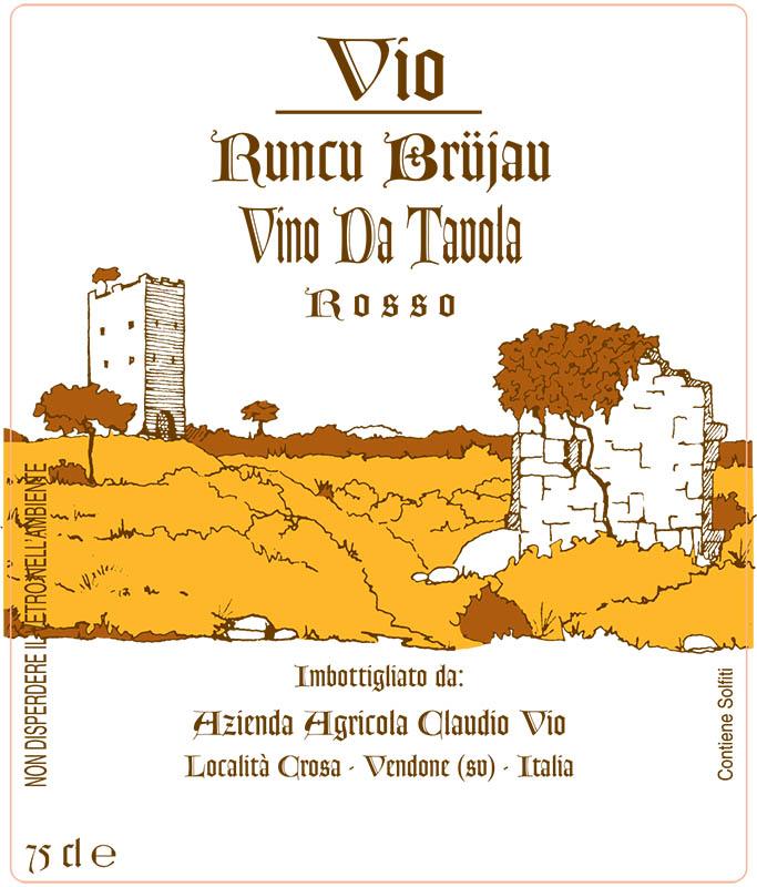 Claudio Vio Vino Rosso 'Runcu Brujau'