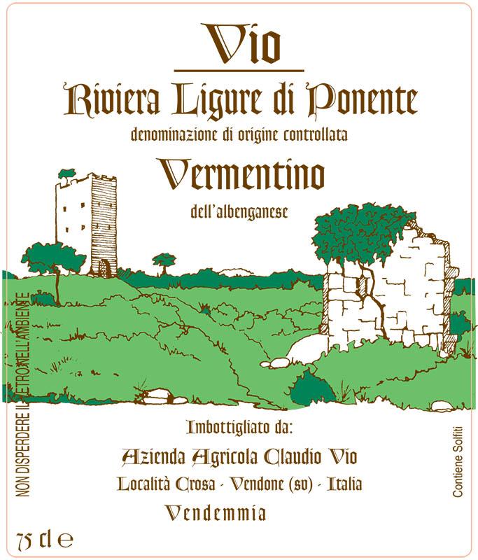 Claudio Vio Vermentino Riviera Ligure di Ponente