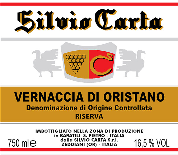 Silvio Carta Vernaccia di Oristano Riserva