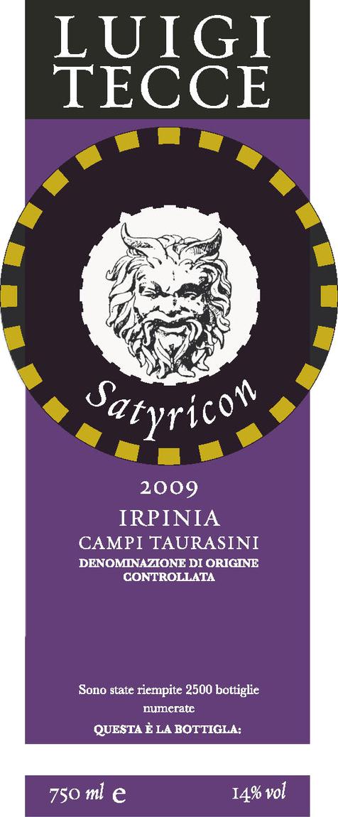 Luigi Tecce Irpinia Campi Taurasini 'Satyricon'