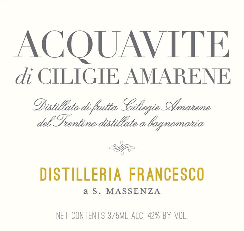 Distilleria Francesco Aquavite di Ciliegie Amarene