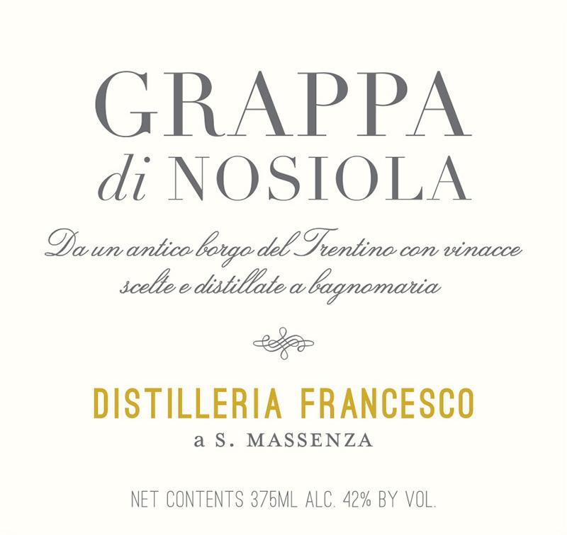 Distilleria Francesco Grappa di Nosiola