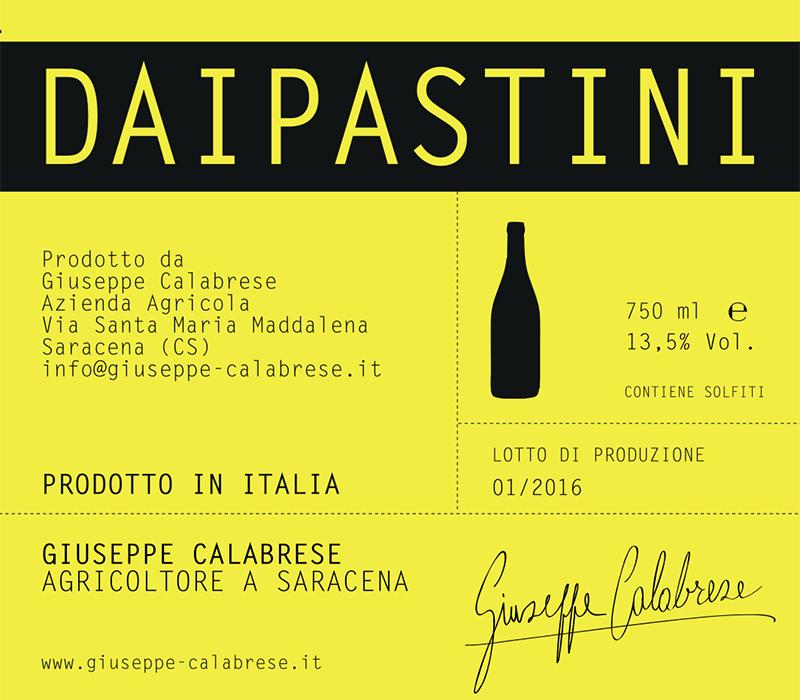 Giuseppe Calabrese Calabria Bianco 'Daipastini'