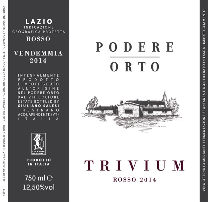 Podere Orto Lazio Rosso 'Trivium' 2014