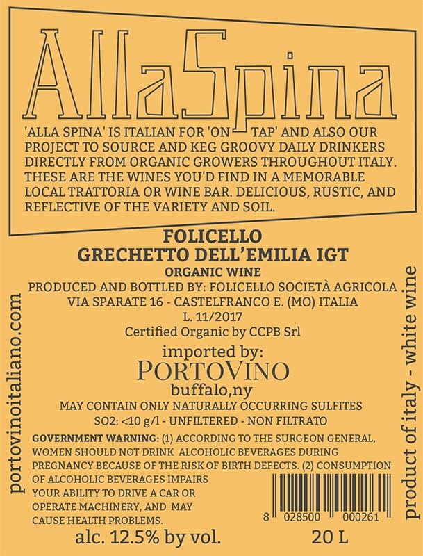 AllaSpina: Folicello Grechetto dell'Emilia