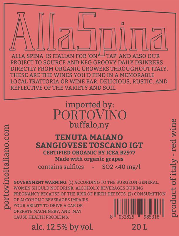 AllaSpina: Tenuta Maiano Sangiovese Toscano