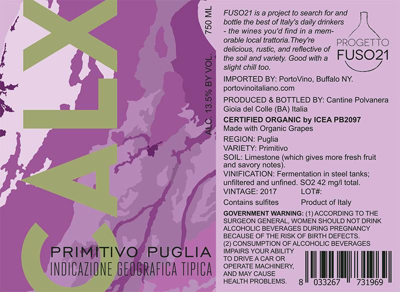 FUSO21 Calx Primitivo Puglia
