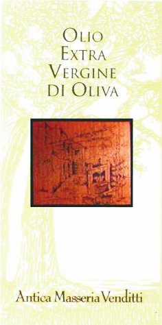 Venditti Olio Extra Vergine di Oliva Biologico