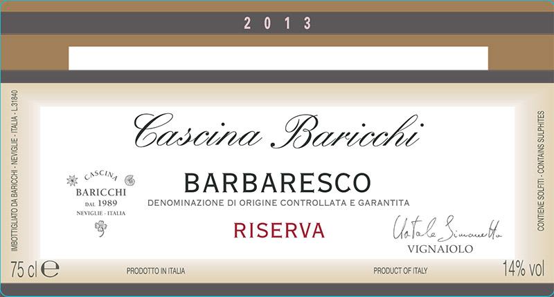 Cascina Baricchi Barbaresco Riserva 2013